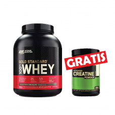 Optimum 100% Whey Gold Standard 2,27 kg + CREATINE 317g GRATIS!