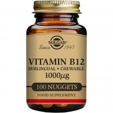 SOLGAR Vitamin B12 1000 mcg Sublingual - Chewable Nuggets